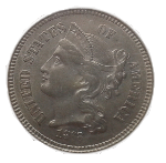 1868 Three Cent Nickel