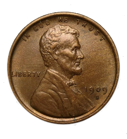 1909-S VDB Lincoln Cent Obverse