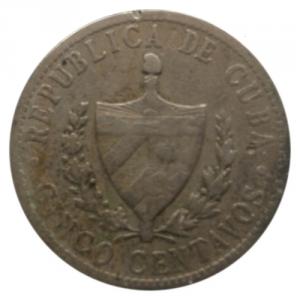 1920 5 Centavos Cuba