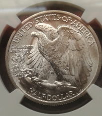 1945-S Walking Liberty Half Dollar Reverse