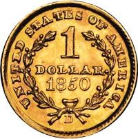 1850-D Gold Dollar