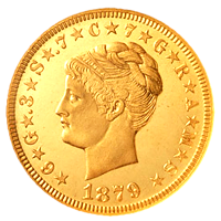 1879 Stella Coiled Hair Obverse