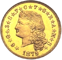 1879 Stella Flowing Hair Obverse