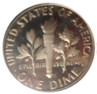 1979-S Roosevelt Dime Reverse