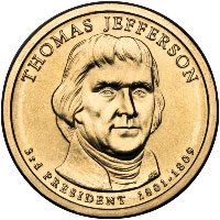 Dollar Coin - Jefferson